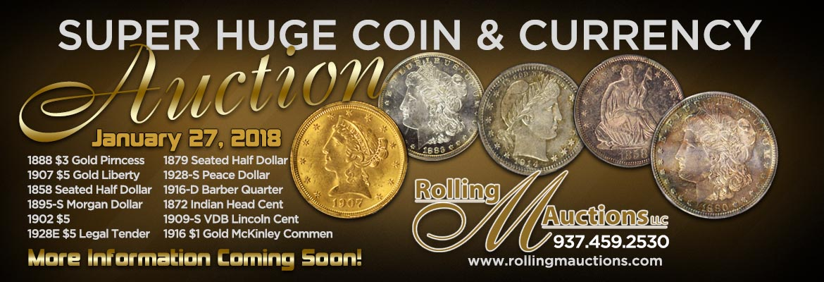 Super Huge Coin Auction   January 27, 2018