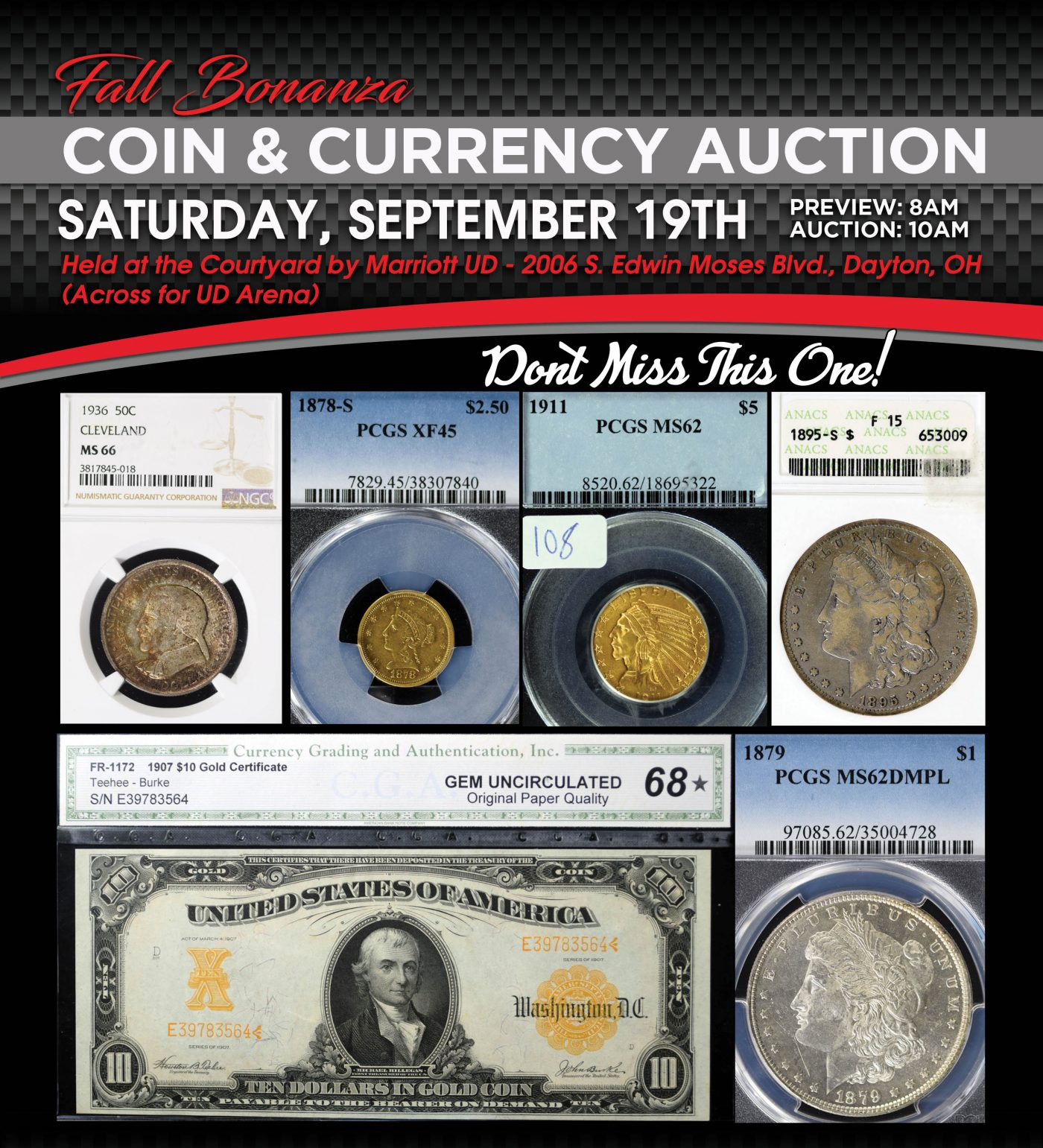 Fall Bonanza Coin & Currency Auction